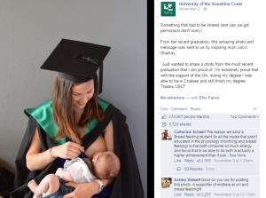 Θήλαζε το μωρό της στην αποφοίτηση. Η φωτογραφία που σάρωσε το facebook