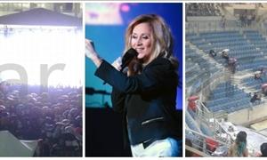 ΦΩΤΟ star.gr: «Μούσκεμα» η συναυλία της Λάρα Φαμπιάν στο ΟΑΚΑ-Ακυρώθηκε μετά από μία ώρα!