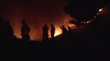 Δύσκολη νύχτα στη Σύρο:  Σε εξέλιξη πυρκαγιά στην Αγία Μαρίνα