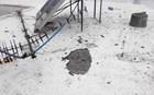 Κεραυνός… τρύπησε ταράτσα πολυκατοικίας στο Βόλο