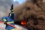 Μυτιλήνη: Φωτιά σε νταλίκα με ζωοτροφές σε χώρο όπου συγκεντρώνονται μετανάστες