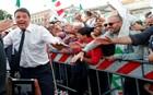 Ο Ματτέο Ρέντσι σε συγκέντρωση υπέρ του «ναι» στο δημοψήφισμα για το Σύνταγμα
