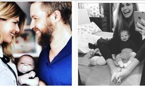 Γιάννης Βαρδής-Νατάσα Σκαφιδά: Βόλτα με την 5 μηνών κορούλα τους!
