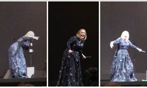 Eπικό βίντεο: Η ξεκαρδιστική αντίδραση της Αντέλ όταν είδε νυχτερίδα στη σκηνή!