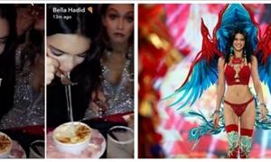 ΒΙΝΤΕΟ: Οι «άγγελοι» της Victoria's Secret ΕΠΕΣΑΝ με τα «μούτρα» στο φαγητό μετά το show!