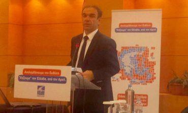 Ο πρώην δήμαρχος Κηφισιάς Νίκος Χιωτάκης στο συνέδριο της Κ.Ε.Δ.Ε.