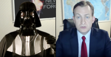 Παρωδία. Συνέντευξη του Darth Vader στο BBC news.