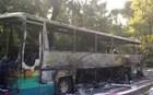 Λεωφορείο γεμάτο μαθητές από την Αθήνα τυλίχτηκε στις φλόγες στην Πάτρα