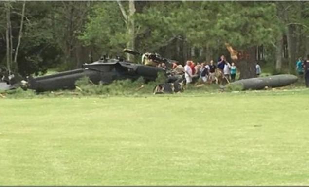 Στρατιωτικό ελικόπτερο έπεσε σε γήπεδο γκολφ στις ΗΠΑ (vid)