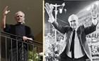 Ο Τσοχατζόπουλος σε πόζα Ανδρέα στο μπαλκόνι του σπιτιού του