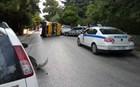 Σύγκρουση και ανατροπή σχολικού λεωφορείου στα Βριλήσσια