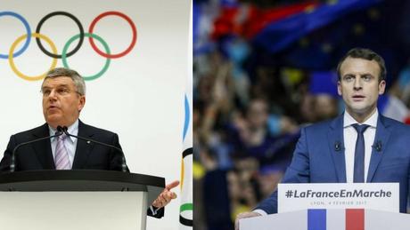 Τηλεφωνική επικοινωνία του Εμανουέλ Μακρόν με τον πρόεδρο της Διεθνούς Ολυμπιακής Επιτροπής