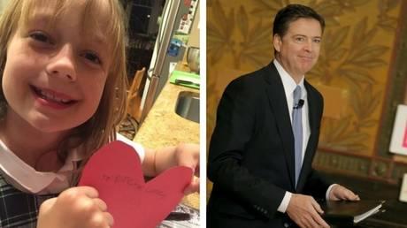 Το γλυκό δώρο που έλαβε ο αποπεμφθείς διευθυντής του FBI από μια 9χρονη γειτόνισσά του