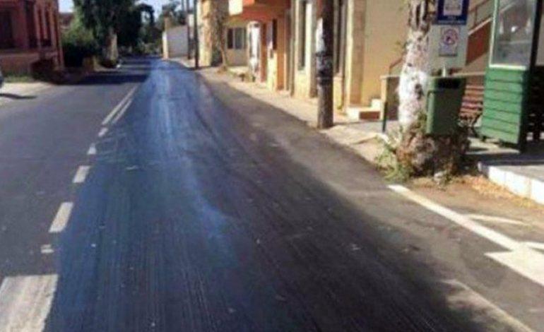 Στην Κρήτη οι δρόμοι… λιώνουν από τη ζέστη!