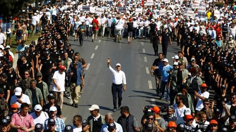 Ολοκληρώνεται η μεγάλη «Πορεία της Δικαιοσύνης» στην Τουρκία
