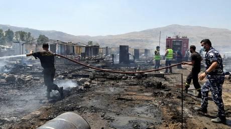 Πυρκαγιά με νεκρούς σε καταυλισμό Σύρων προσφύγων στον Λίβανο