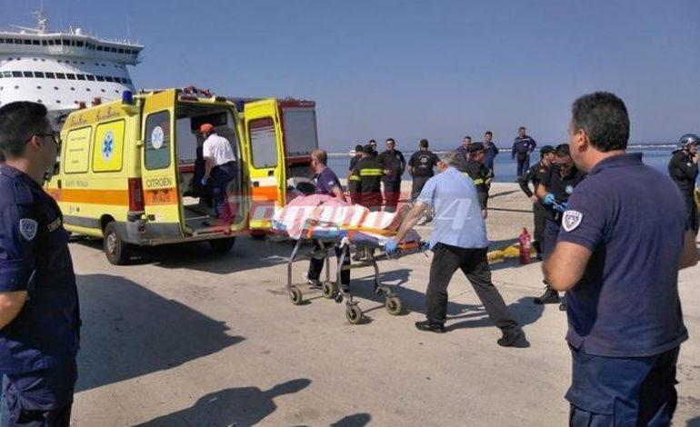 Bουτιά θανάτου για οδηγό αυτοκινήτου στο λιμάνι της Πάτρας
