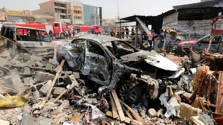 Ιράκ: Έκρηξη παγιδευμένου οχήματος στη Βαγδάτη – Νεκροί και τραυματίες (pics)