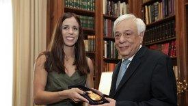 Ο Πρόεδρος της Δημοκρατίας υποδέχθηκε την Κατερίνα Στεφανίδη