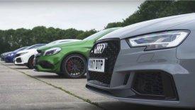 To Audi RS3 και… όλοι τους! (vid)