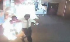 Έβαλε φωτιά σε τράπεζα επειδή βαρέθηκε να περιμένει στην ουρά (Vid)