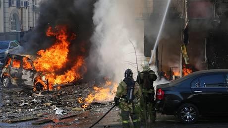 Δύο νεκροί από πυρκαγιά σε ξενοδοχείο στη Ρωσία – Συγκλονιστικά βίντεο