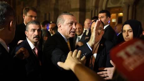 Επεισόδια στην ομιλία Ερντογάν στη Νέα Υόρκη (vid)