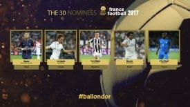 Αποκαλύπτονται οι 30 υποψήφιοι για τη «Χρυσή Μπάλα»