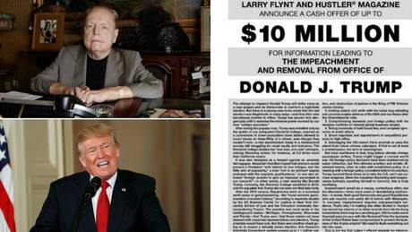 Ο εκδότης του «Hustler» θέλει να «ρίξει» τον Τραμπ από την προεδρία και πληρώνει… αδρά