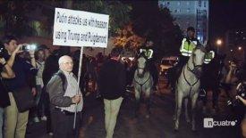 Ηλικιωμένος οπαδός της Σεβίλλης κρατούσε πλακάτ κατά του Πούτιν και οι Ρώσοι του επιτέθηκαν! (vid)
