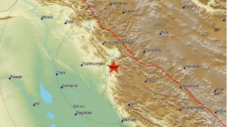 Ισχυρός σεισμός στα σύνορα Ιράν-Ιράκ