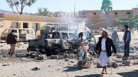 Αεροπορικές επιδρομές του σαουδαραβικού συνασπισμού κατά των Χούτι στην Υεμένη