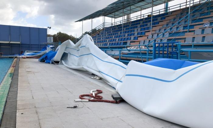 Ζημιές στο κολυμβητήριο Χανίων