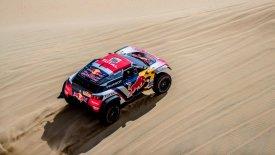 Ο Ντεσπρέ με Peugeot οδηγεί τον αγώνα, καταστροφή για την ΜΙΝΙ