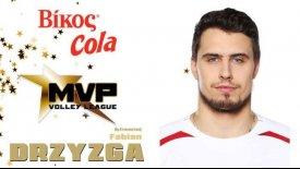 O Ντρίζγκα MVP της 9ης αγωνιστικής στη Volley League