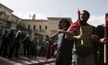 Διαμαρτυρία φοιτητών κατά του πανεπιστημίου Δυτικής Αττικής