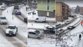 Μια Porsche ταλαιπωρείται στο χιόνι (vid)
