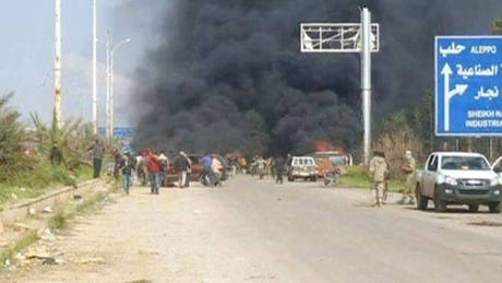 Αναφορές για ισχυρή έκρηξη κοντά στο Χαλέπι