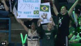 Από τη Βραζιλία στο Μιλγουόκι για τον Γιάννη! (vid)