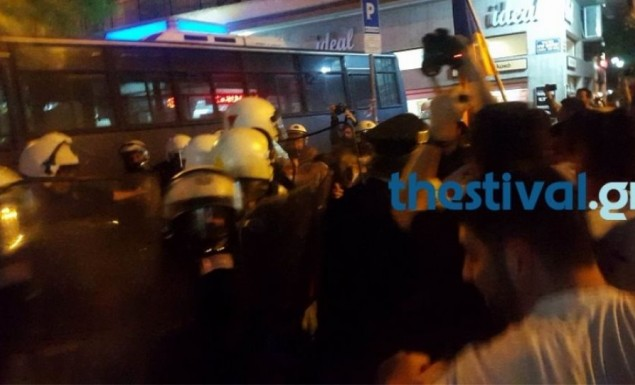 Επεισόδια και χημικά μετά την πορεία των Αρμενίων στο τουρκικό προξενείο στη Θεσσαλονίκη (vid)