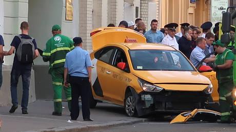 Μόσχα: Εξιτήριο για τρεις από τους τραυματίες που παρέσυρε το ταξί (pics)