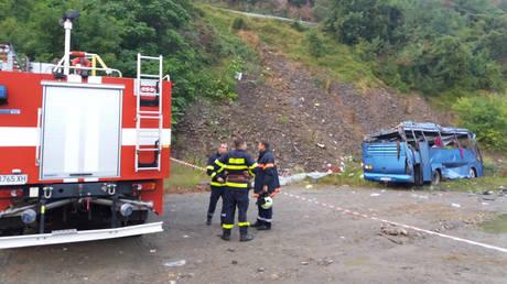 Αυξήθηκε ο αριθμός των νεκρών από το τροχαίο δυστύχημα στη Βουλγαρία (pics)
