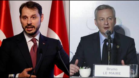 Τηλεφωνική επικοινωνία ΥΠΟΙΚ Γαλλίας και Τουρκίας για τις αμερικανικές κυρώσεις