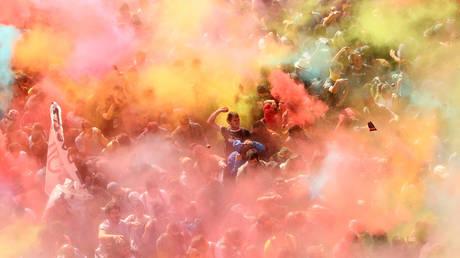Βαρκελώνη: Επεισοδιακές διαδηλώσεις ένα χρόνο μετά το δημοψήφισμα για ανεξαρτησία της Καταλονίας (pics)