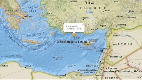 Ισχυρός σεισμός στην Αττάλεια της Τουρκίας