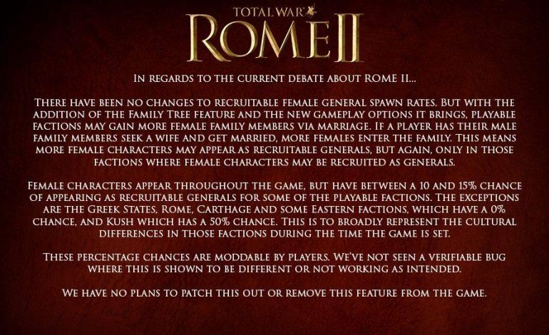 To Total War: Rome 2 δέχεται πυρά στο Steam