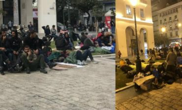 Θεσσ/κη: Άτυπος καταυλισμός μεταναστών η πλατεία Αριστοτέλους