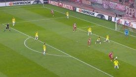 Άψογο πλασέ του Φορτούνη και 2-0 ο Ολυμπιακός! (vid)