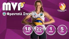 Η Φραντσίλ Στεντίλ MVP της 5ης αγωνιστικής της Volleyleague Γυναικών