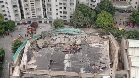 Επτά νεκροί από την κατάρρευση κτηρίου στη Σανγκάη (pics&vids)